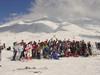 El grupo de paticipantes del día del ski.